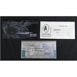Star Trek First Contact Bank Checks Set in Book MINT