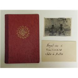 NAZIDAF-DEUTSCHES ARBEITSFRONT ID AND DUES BOOK