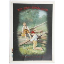 Vintage Paul Jones Pure Gin Advertising Poster Print Ad