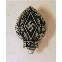 HITLER YOUTH 1935 RALLY BADGE-MAKER MARKED
