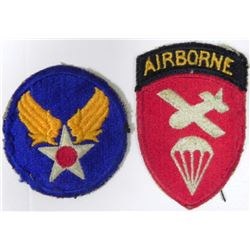 ORIG WWII USAAF AIRBORNE PARACHUTIST AND US AAF PATCH