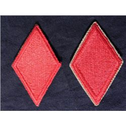 TWO 5TH DIVISION WWII U.S. UNIFORM PATCHES