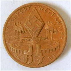 HITLER YOUTH MEDAL FOR REICHSPORT WETTKAAPF 1939