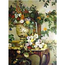"(ART) ""A Bouquet Of Flowers On A Table"" - Jean Frederic Bazille (FL6402BAZ-20)"
