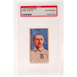 1909-11 T206 PIEDMONT EMIL BATCH BASEBALL CARD - PSA AUTHENTIC