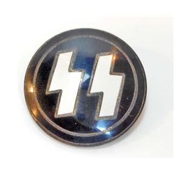 GERMAN NAZI WAFFEN SS ENAMELED RUNIC BADGE