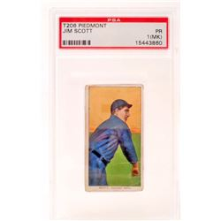 1909-11 T206 PIEDMONT JIM SCOTT BASEBALL CARD - PSA PR1