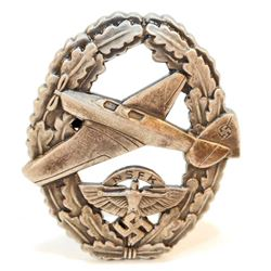 GERMAN NAZI NSFK/DLV GLIDER PILOTS BADGE