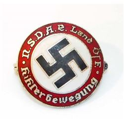 GERMAN NAZI AUSTRIAN NSDAP ENAMELED PARTY BADGE
