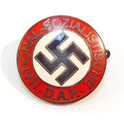 GERMAN NAZI NSDAP ENAMELED PARTY BADGE