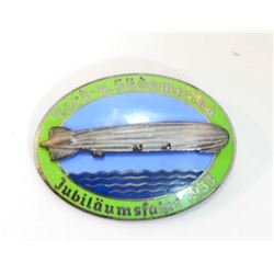 GERMAN NAZI GRAF ZEPPELIN AIR SHIP BADGE