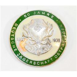 GERMAN NAZI 50-YEAR HUNTING ASSOCIATION ANNIVERSARY BADGE