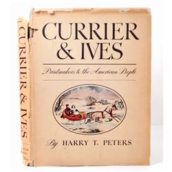 "1942 ""CURRIER AND IVES PRINTS"" HARDCOVER BOOK - OVERSIZED"