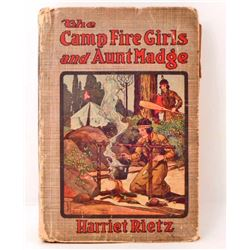 "VINTAGE ""THE CAMP FIRE GIRLS AND AUNT MADGE"" HARDCOVER BOOK"