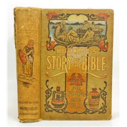 VINTAGE  HURLBUT'S STORY OF THE BIBLE  HARDCOVER BOOK