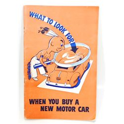 VINTAGE 1941 PONTIAC MOTOR CAR ADVERTISING BOOK