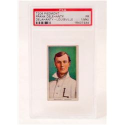 1909-11 T206 PIEDMONT FRANK DELEHANTY BASEBALL CARD - PSA PR1
