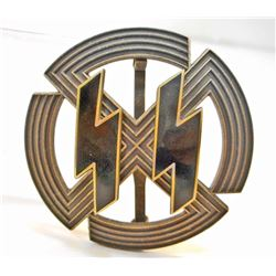 GERMAN NAZI BRONZE WAFFEN SS PROFICIENCY SPORTS BADGE