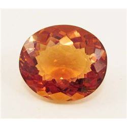 25.95 CT GOLDEN ORANGE BRAZILIAN CITRINE