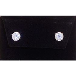 PAIR OF 14KT WHITE GOLD DIAMOND EARRINGS W/ APPRAISAL