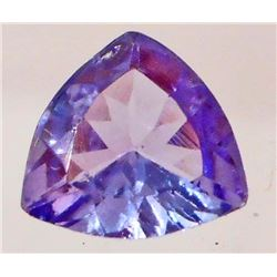 0.62 CT TRILLION CUT PURPLE BLUE TANZANITE