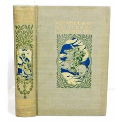 "1902 ""FAMOUS BATTLES BY LAND AND SEA"" HARDCOVER BOOK"