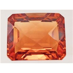 34.89 CT GOLDEN ORANGE BRAZILIAN CITRINE