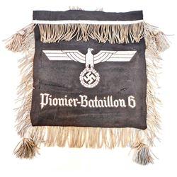 GERMAN NAZI PIONIER - BATTALION 6 SCHELLENBAUM REGIMENTAL BANNER