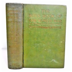 """1920 """"THE BOYS BOOK OF THE WORLD WAR"""" HARDCOVER BOOK"""