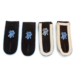 LOT OF 2 PAIRS OF GERMAN NAZI WAFFEN SS LAH TRANSPORT SHOULDER BOARDS