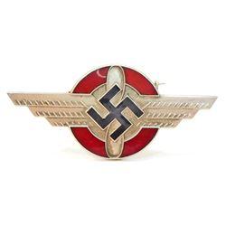 GERMAN NAZI NSFK/DLV GLIDER KORPS OFFICERS VISOR CAP INSIGNIA