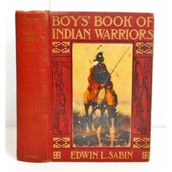 "1918 ""BOYS BOOK OF INDIAN WARRIORS"" HARDCOVER BOOK"