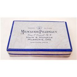 VINTAGE MILWAUKIE OREGON PHARMACY PILL BOX
