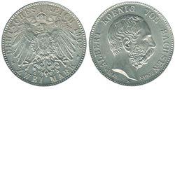 Germany; 1902E Zwei Mark from Saxony-Albertine. Coin is a Gem BU with near flawless fields.