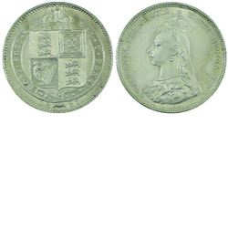 Great Britain; 1887 Shilling in Brilliant Uncirculated condition. A nice vibrant Victorian mint stat