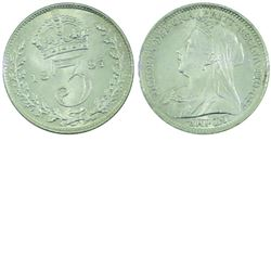 Great Britain; 1897 3 Pence in Choice Brilliant Uncirculated condition. Exceptional Rolling Luster.