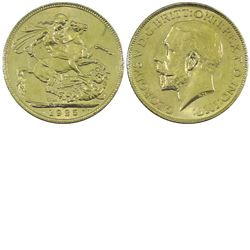 Great Britain 1925 Gold Sovereign MS63 +