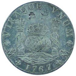 Mexico 1767-Mo, Mf ICG Certified EF45 KM#105 Chopmarked.