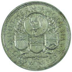 Southern Rhodesia 1853-1953 Crown with original green display box.