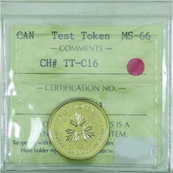 Test Token Canada CH# TT-C16 ICCS MS-66
