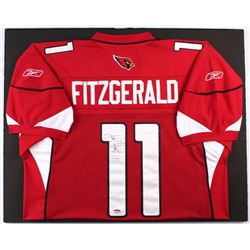 outlet store 88c7d 4ddd7 Larry Fitzgerald Signed Cardinals 24x30 Custom Matted Jersey ...