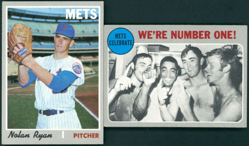 Lot Of 2 1970 Topps Baseball Cards With 198 Nolan Ryan Nl