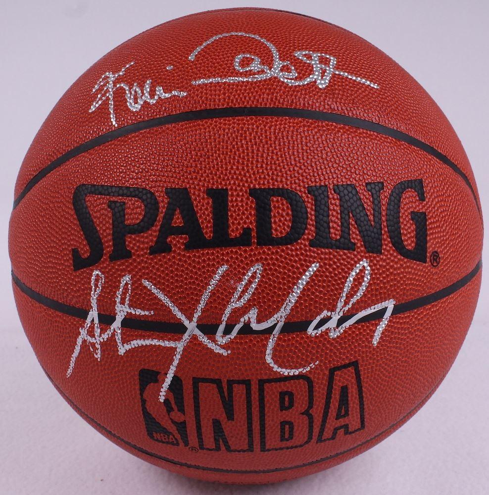 the latest ff090 7d344 Kevin Garnett & Stephon Marbury Signed Basketball (JSA COA)
