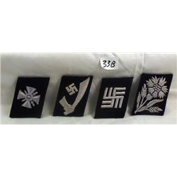 4 RARE WW II GERMAN NAZI PATCHES