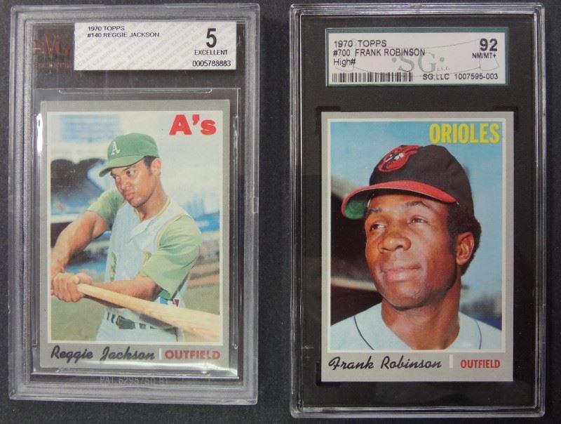 13 1970 Topps Graded Baseball Cards Reggie Jackson Frobinson Plus Others