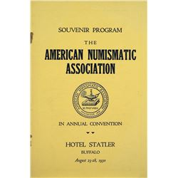 1930 ANA Convention Program