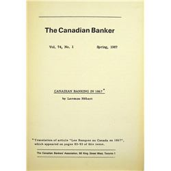 Canadian Banking in 1867