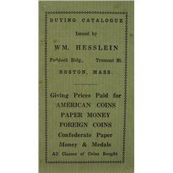 Rare Hesslein Premium-Paid List