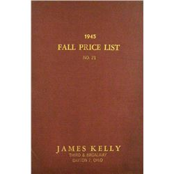 Hardcover 1945 Kelly Fixed Price Catalogue