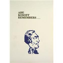 Abe Kosoff Remembers
